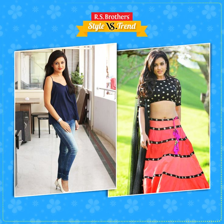 """#Style Vs. #Trend South Indian Beautiful Actress #MishtiChakraborty in #LehangaCholi with Traditional Look & other side in Western Dress with #Trendy Look. Which Outfit suits her best & looks Awesome? Present your interest in """"Like"""" for Western OutfitWestern Outfit or """"Comment"""" for Western Outfit …. (Image copyrights belong to their respective owners)"""