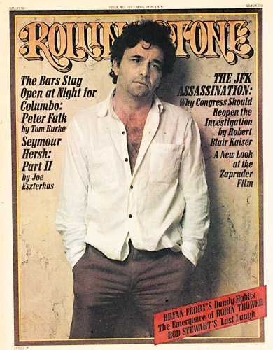Columbo Peter Falk on the cover of Rolling Stone magazine