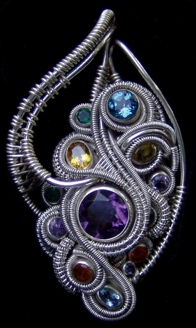 Wire Wrap Pendant by DRJDesign on Etsy https://www.etsy.com/listing/232961684/wire-wrap-pendant