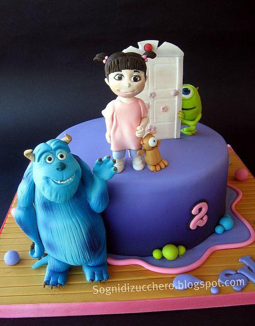 Monsters & Co. cake by Sogni di Zucchero, via Flickr