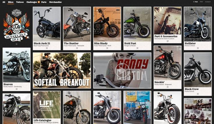 Screenshot of the Harley Judgement Day Website. go on http://www.harleyjudgementday.com.au/
