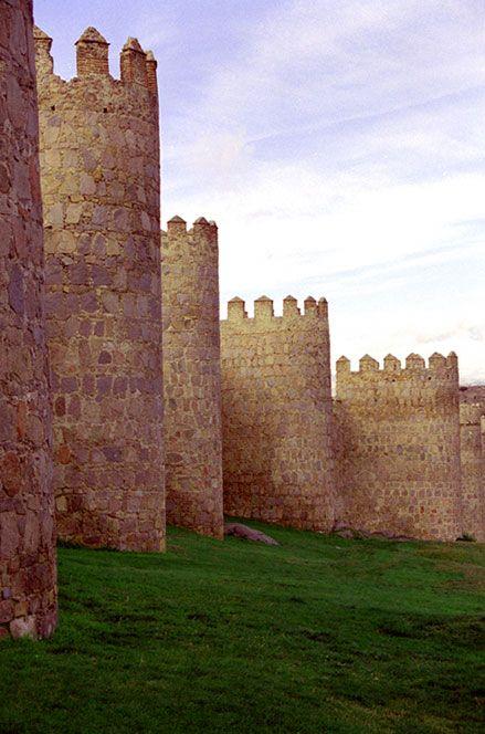 Avila Spain. Beautiful castle walls.