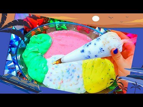 خلط سلايم شفاف مع المكياج العاب بنات اطفال صغار جميلة طين اصطناعي سلايم مكياج Slime Youtube Fruit Watermelon Food