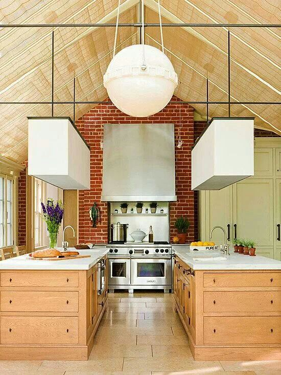Double island kitchen idea kitchen pinterest double for Dual island kitchen designs