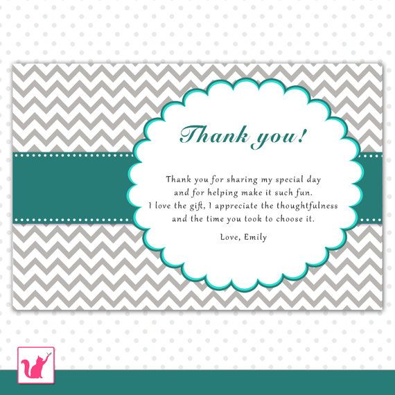 17 Best images about Party Thank You Cards – Thank You Card Wording for Birthday Gift