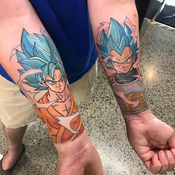 Tatouage Manga Dragonballsuper Vegeta Songoku Photo
