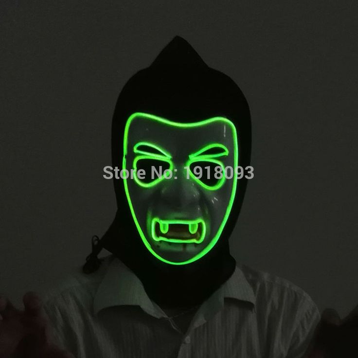 10 color choice Sound active EL wire Mask Halloween vampire Mask EL wire Festival LED Strip Glowing Light-up For Party Carnival. Yesterday's price: US $15.38 (12.72 EUR). Today's price: US $13.38 (10.86 EUR). Discount: 13%.