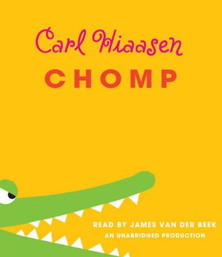 Chomp by Carl Hiaasen - When Wahoo Cray convinces his dad, an eccentric animal wrangler, to accept a job with the reality show Expedition Survival, he didn't imagine all the shenanigans he'd have to wrangle himself - and others - out of while shooting on location in the Everglades. This is by far my favorite Carl Hiaasen book to-date. The audiobook of CHOMP has the added benefit of the dreamy James Van Der Beek as the narrator. :)