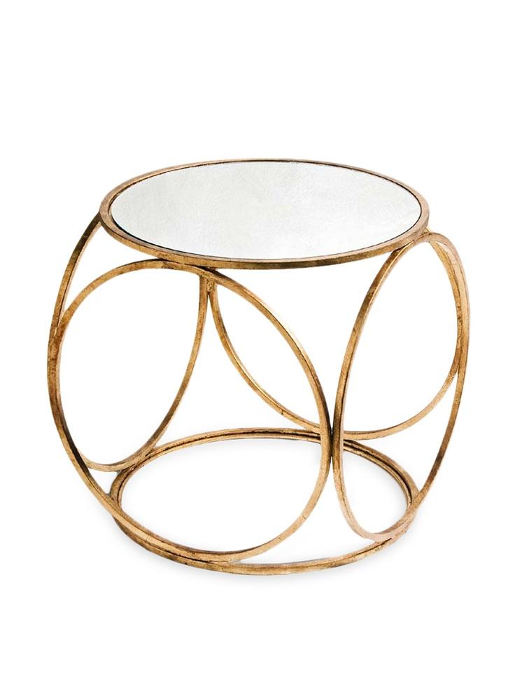 Orbital Side Table - Gilt Home: Side Table, Side Tables, Gold Leaf, Contemporary Side, Orbital Gold, Orbital Side, Furniture, Accent Tables