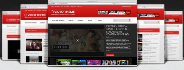 Responsive Video Theme for WordPress