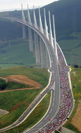 The tallest bridge in the world ~ the Millau Bridge, France
