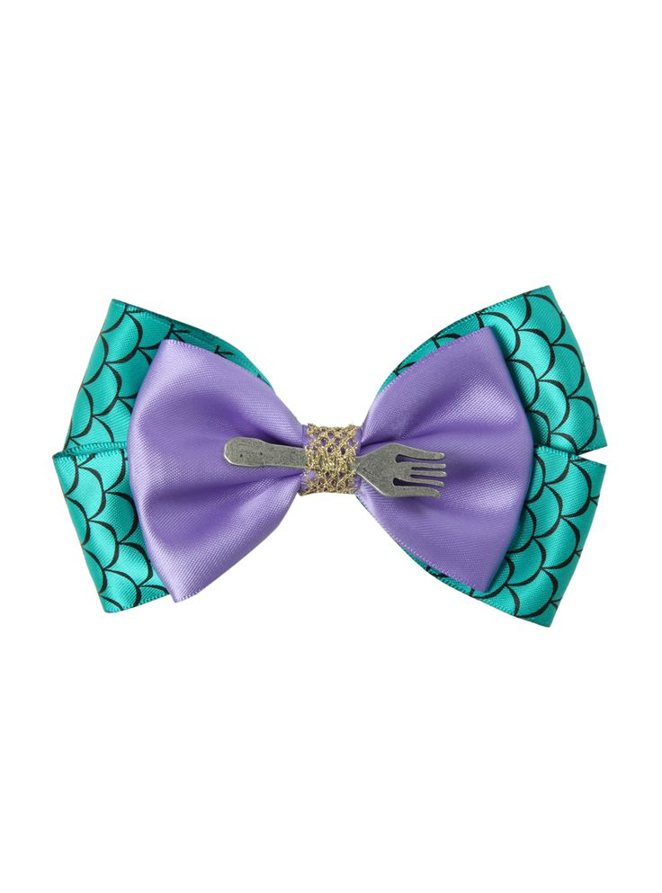 Adorable Little Mermaid Hair Bow, complete with dinglehopper! On sale for about $6.