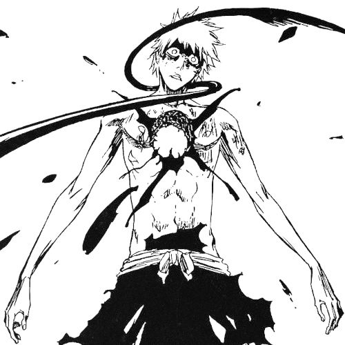 ichigo- I remember falling off my bed screaming when this happened and now my sisters don't stay in the same room as me when I watch or read Bleach