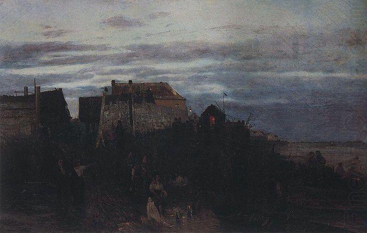 Modlitwa zydow w dzien sabatu, Aleksander Gierymski