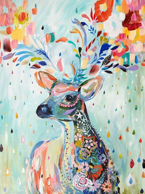 Deer Abstract Painting Art Pinterest Deer Abstract