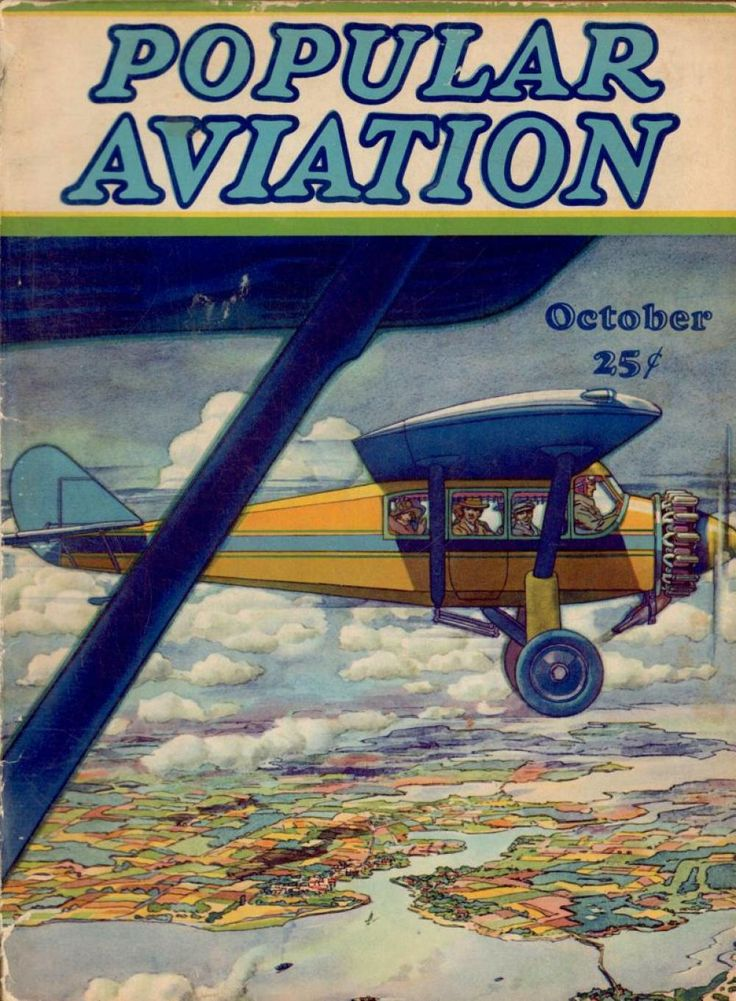 Flying Magazine's October 1928 Cover #vintage #aviation #flying