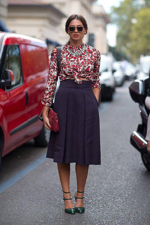 Giovanna Battaglia Milan Street Style Fashion Week Spring 2014 - Milan Fashion Week Spring 2014 - Harper's BAZAAR