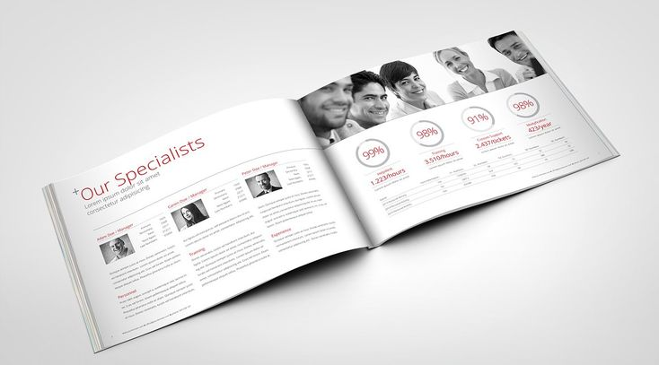 Swiss Annual Report Brochure by Creative Template on @creativemarket