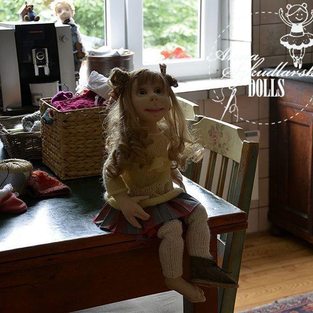 #artistdolls #uniquedolls #needlefelting #handpainted #handsewing #annaszkudlarskauniqedolls #ooakdolls #fabiricdolls #softsculpture #needlefelting #lalkakolecjonerska #handmade
