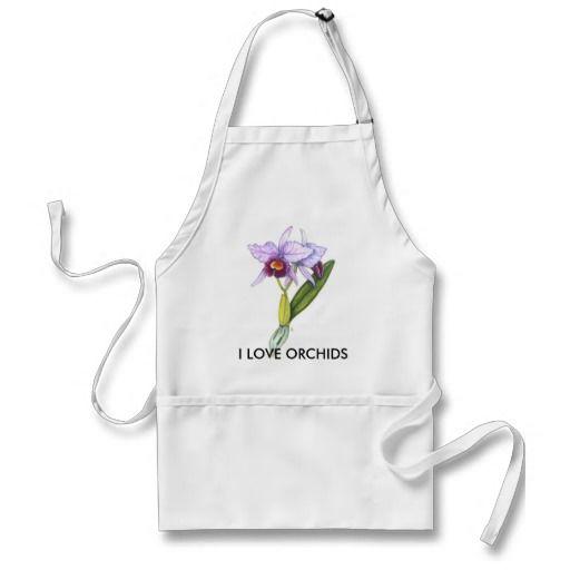 Cattleya labiata, I LOVE ORCHIDS Aprons