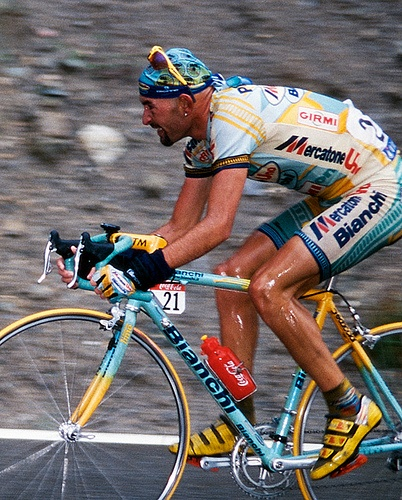 Marco Pantani - Love him or hate him....the Pirate had style!