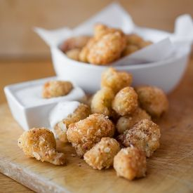 """... -Cauliflower """"Poppers"""" with Creamy Buttermilk Ranch Dipping Sauce"""