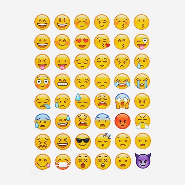 10 Листов 48 Наклейки Горячие Популярных Стикер 48 Emoji Усмешки Наклейки Для Ноутбуков Сообщение Twitter Большой TY0103 #CLICK! #clothing, #shoes, #jewelry, #women, #men