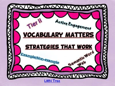 LMN Tree: Vocabulary Matters: Strategies That Work! Part 1-Introduction of a new series of vocabulary teaching strategies that work.