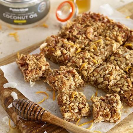 Healthy Honey Nut Bars