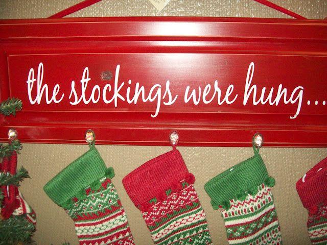 Stocking hanger.