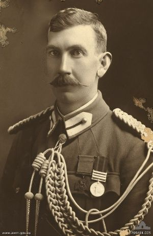 Lieut-Col. Leslie Cecil Maygar VC DSO VD (MID 3x) 8th Australian Light Horse, late 5th Victorian Mounted Rifles. (27.5.1868|1.11.1917) DOW Karm, Palestine 1.11.1917 rec'd Battle of Beersheba, Oct 31, aged 42. Buried Beersheba War Cemetery. Grave Ref: Q. 82. VC awarded Geelhoutboom, Natal, Sec. Boer War 23.11.1901 for gallantry in the face of the enemy, C-LG 11.2.1902. Son of the late Edwin Wills Maygar and Helen Maygar. Native of Dean Station, Kilmore, Victoria, Australia.