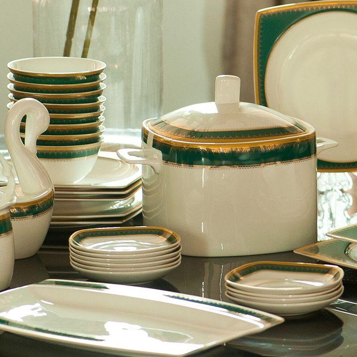 Высокого класса Наборы Посуды ручная роспись костяного фарфора посуда костюм керамическая чашка и блюдце блюда роскошные подарки