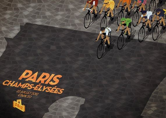 Tour de France Daily Poster 2012 Stage 20 by CyclingPosters, $40.00