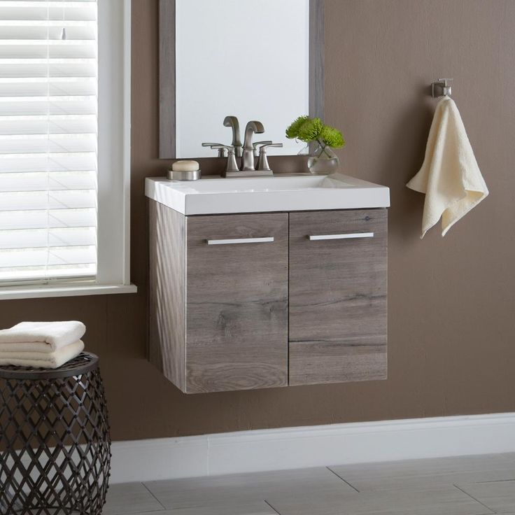 250 Domani Stella In In W X In D Vanity In White Washed Oak With Cultured Marble