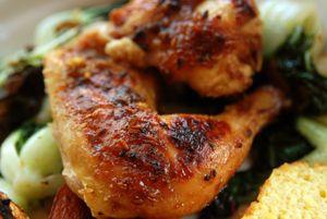 Tamarind Chutney-Roasted Cornish Hen  Recipe  spicetrekkers.com