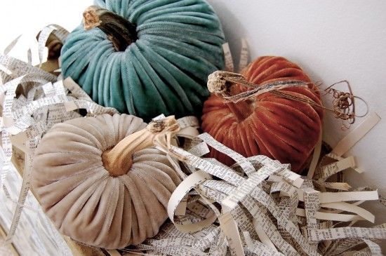 Pull out the velvet pumpkins ... oh, joy! http://shop.lovefeasttable.com/