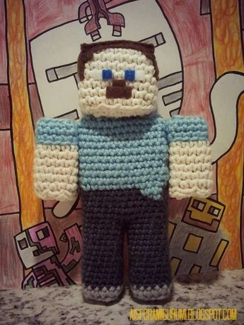 A is for Amigurumi: I am a Player...of Minecraft that is.