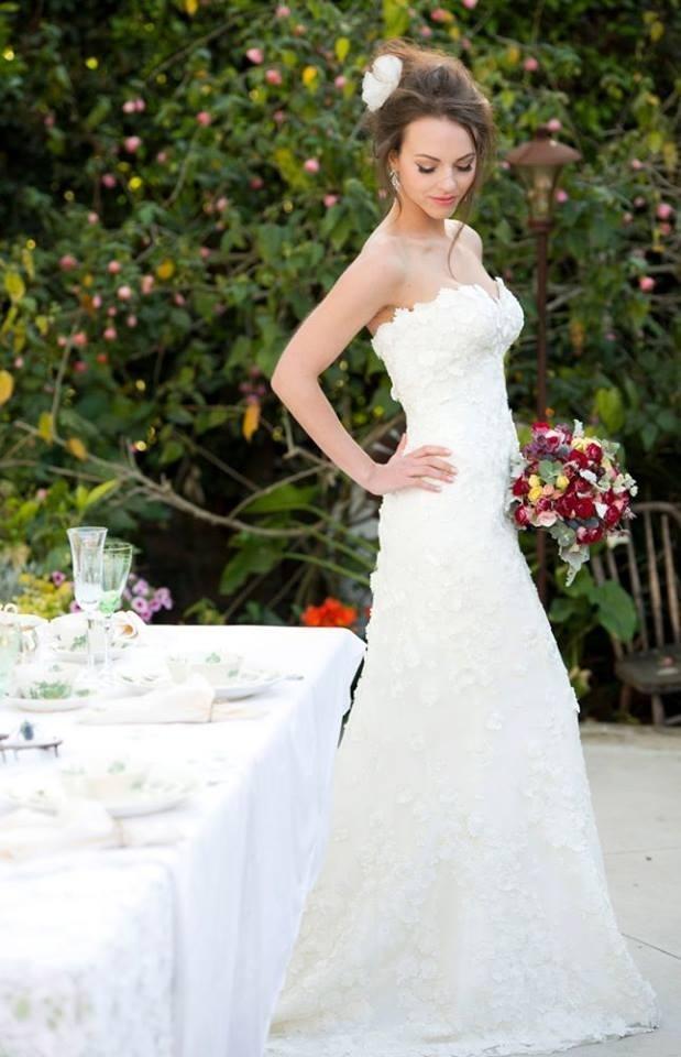 L'ezu Wedding Dress, lace on light lace