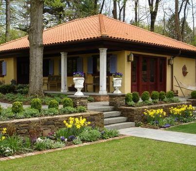 Jardines d casa jardin de casas casa pinterest for Modelos de jardines en casa