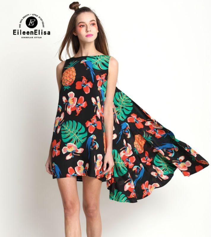 Floral Print Dress Vintage Women 2017 Runway Summer Silk Dresses High Quality