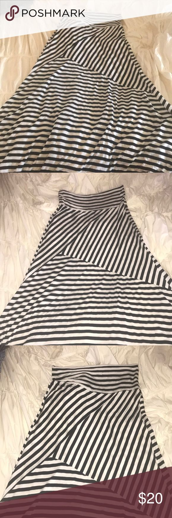 Promesa Stripped Maxi Skirt Stripped Maxi Skirt Promesa Skirts Maxi