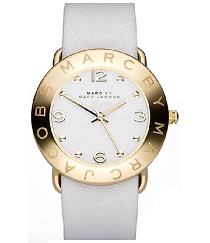Marc By Marc Jacobs Women's MBM1150 White Leather Quartz Watch with White Dial