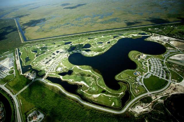 Aerial view from Osprey Point Golf Club (Boca Raton, Florida)
