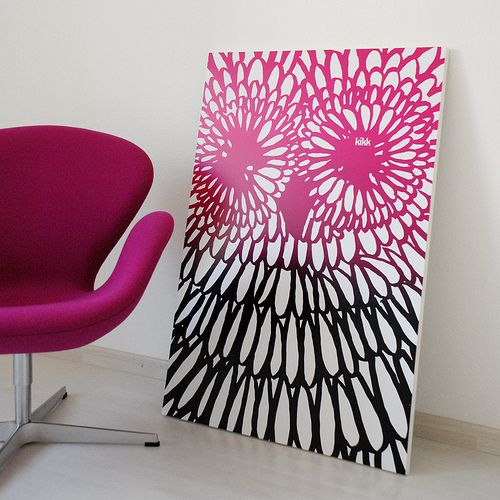 June 2014:  LOVE this owl print so much that it inspired wall art for my daughter's bedroom!  (Kikk Shop - Hibou)