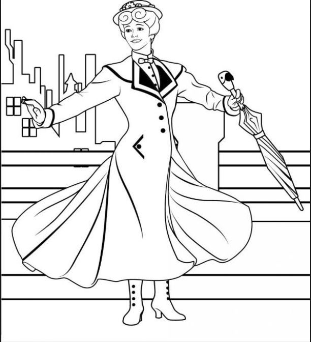 disney coloring pages mary poppins - photo#23