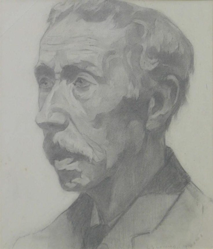 Portrait of a Man by LS Lowry