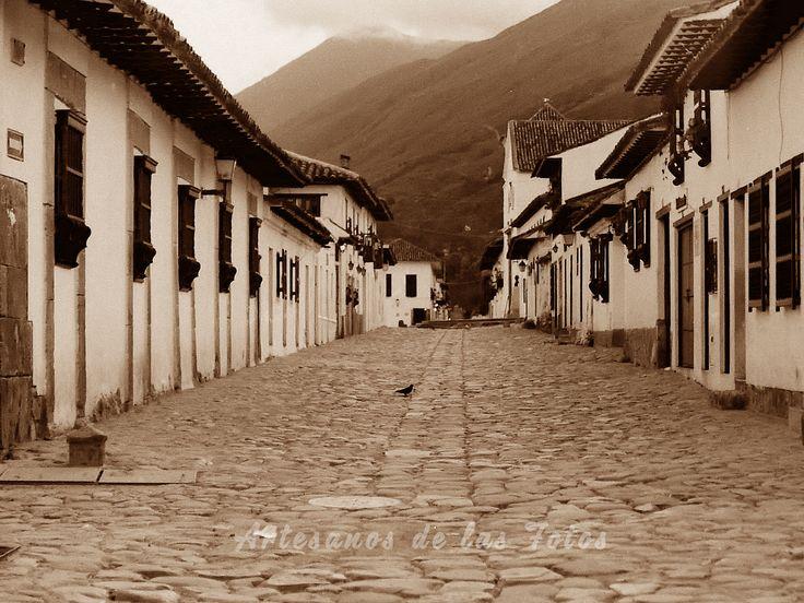 Calles de piedra en Villa de Leyva