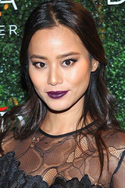 8 Celeb-Approved Wine Lipsticks, For Every Skin Tone #refinery29  http://www.refinery29.com/best-wine-lipstick-colors#slide-5  Jamie Chung is yet another celeb who often does her own makeup for red carpet events, like she did for a Revolve Clothing event in L.A. (pictured here)....