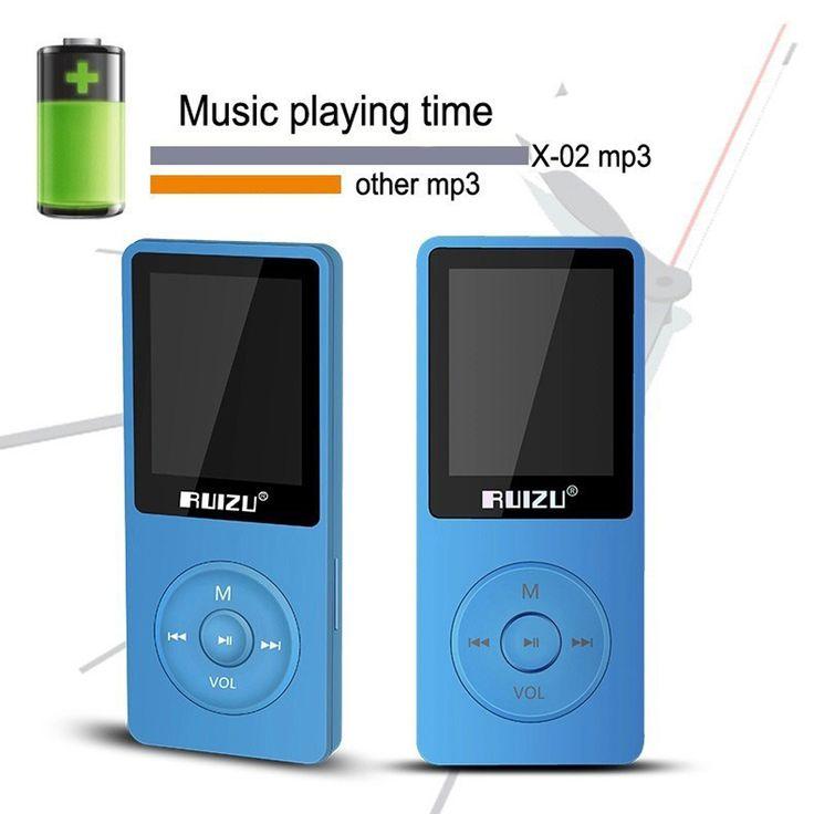 Ruizu X02 Portable Lossless Digital Sport Screen Hifi Audio Mp 3 Mini Music Mp3 Player 8GB. Click visit to buy