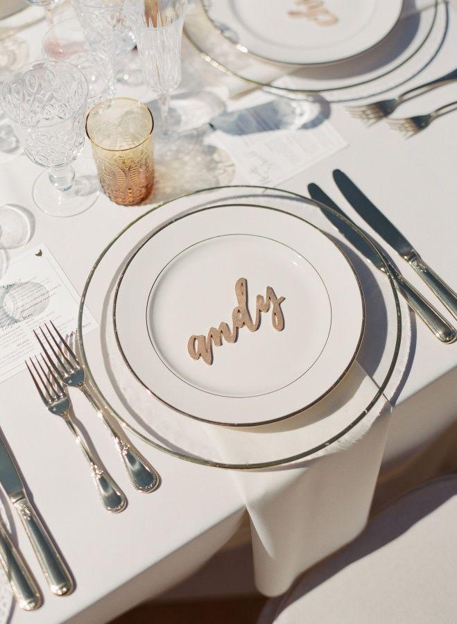 wedding table name card size%0A Al Fresco Summer Santa Barbara Wedding  Placecard